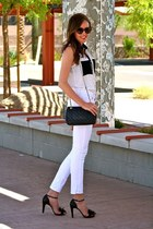 black bow redvalentino pumps - white white BCBGeneration jeans