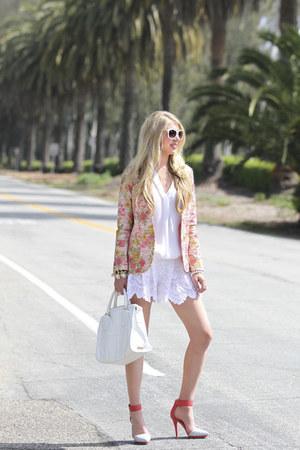 Roseanna blazer - botkier bag - nightcap shorts - Halogen sunglasses