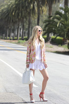 Roseanna blazer - botkier bag - nightcap shorts - Halogen sunglasses