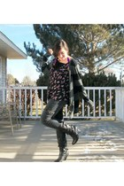 Aeropostale cardigan - black No Boundaries boots - kirra top