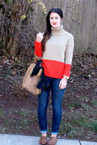 Forever 21 sweater - Anlo jeans - Zara bag