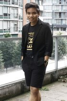 black black Marks & Spencer blazer - black black Chanel t-shirt