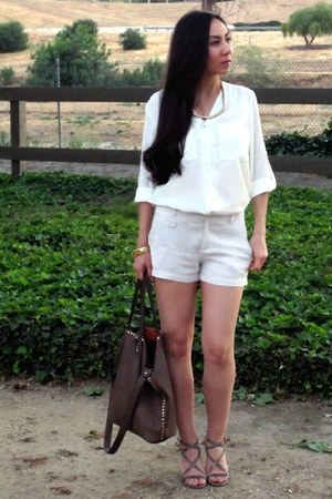 H&M top - Forever21 shorts - Via Spiga sandals - H&M necklace