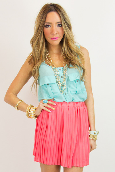 salmon chiffon HAUTE & REBELLIOUS skirt