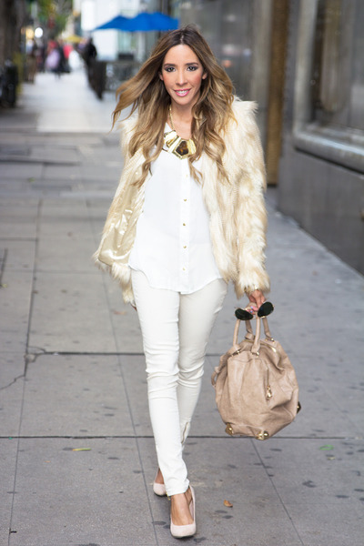 white HAUTE &amp; REBELLIOUS shirt - cream HAUTE &amp; REBELLIOUS coat