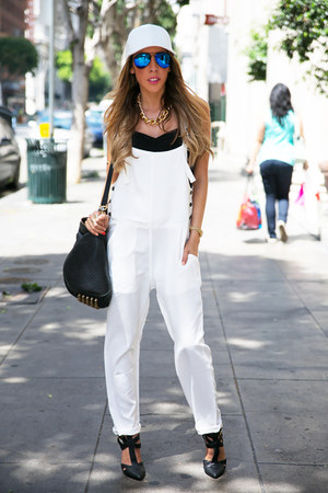 white HAUTE & REBELLIOUS romper - black HAUTE & REBELLIOUS shoes