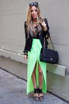 chartreuse chiffon HAUTE & REBELLIOUS skirt