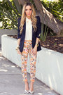 Navy-zara-blazer-orange-haute-rebellious-pants