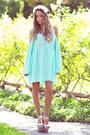 White-haute-rebellious-hair-accessory-aquamarine-haute-rebellious-dress