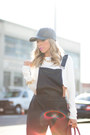 Black-steve-madden-boots-black-leather-cap-haute-rebellious-hat