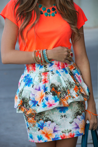 white Zara skirt - carrot orange HAUTE & REBELLIOUS shoes