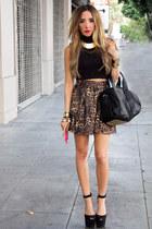 camel HAUTE & REBELLIOUS skirt - black HAUTE & REBELLIOUS bag