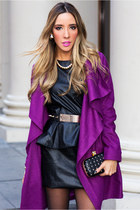 magenta chloe coat HAUTE & REBELLIOUS coat - black HAUTE & REBELLIOUS dress