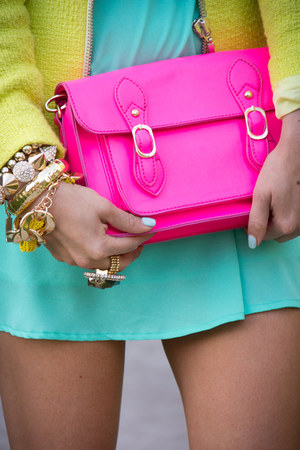 hot pink satchel HAUTE & REBELLIOUS bag