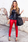 Red-haute-rebellious-leggings-white-haute-rebellious-jacket