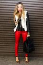 Red-haute-rebellious-leggings-white-haute-rebellious-jacket