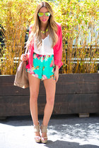HAUTE & REBELLIOUS FLORAL SHORTS