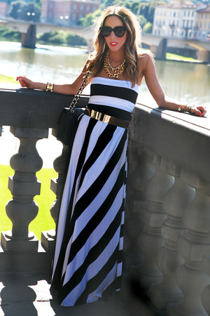 HAUTE AND REBELLIOUS necklace - HAUTE AND REBELLIOUS dress - Chanel bag