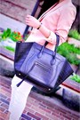 Fitted-racer-item-jeans-maje-blazer-black-phantom-celine-bag