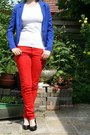 Blue-h-m-blazer-red-red-pants-c-a-pants