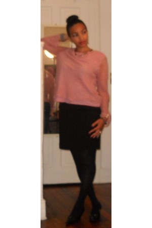 blush Bob Mackie blouse - coach heels - black Rena Rowan skirt