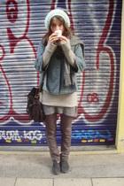 H&M hat - H&M scarf - Comptoir Des Cottniers sweater - H&M suit - H&M pants - H&