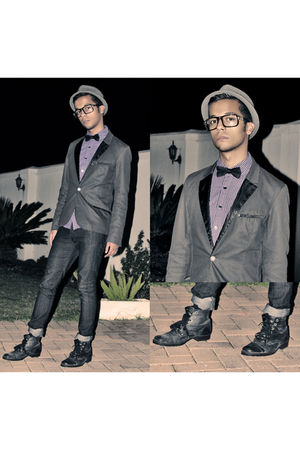 black Zoom Footwear boots - makham accessories - black H&M blazer - Mr Price jea