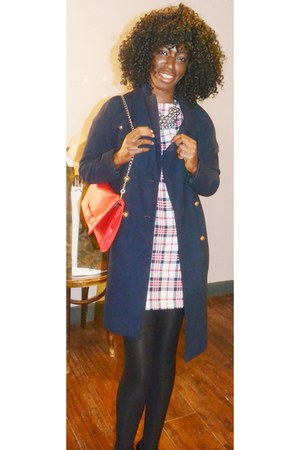 Zara dress - Urban Outfitters coat - Betsey Johnson bag - H&M necklace