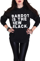 BARDOT IS THE NEW BLACK California Crew Sweatshirt