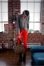 Black-zoe-sam-edelman-boots-heather-gray-forever21-sweater-red-high-waist-am