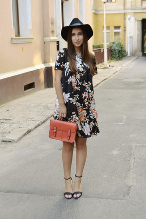 H&M hat - asos dress - Topshop bag - new look sandals