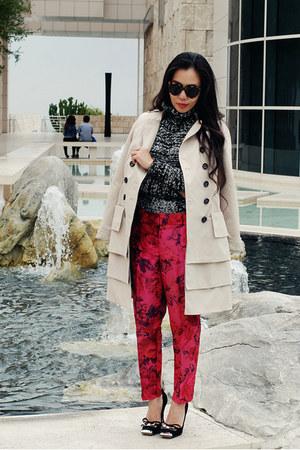 Jcrew pants - Anthropologie coat - Zara sweater - Miu Miu heels