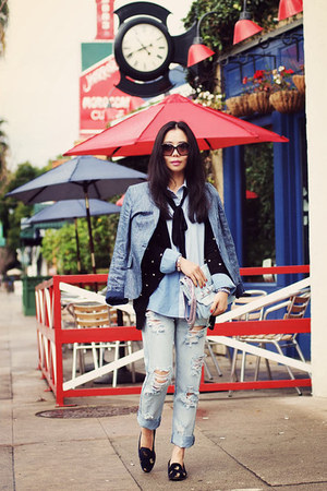 One Teaspoon jeans - Forever21 sweater - Zara blazer - Be and D bag