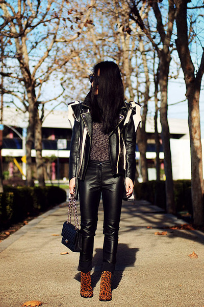 MMM with H&M jacket - Zara boots