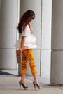 Zara-pants-charlotte-olympia-heels