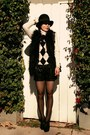 Incinternational-vest-zara-shorts-vintage-sweater-forever-21-heels-chane