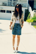 Alexander Wang shoes - tweed McGinn jacket - DIY skirt