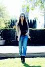 Lace-up-alexandera-neel-boots-levis-jeans-zara-hat-zara-blazer-forever21