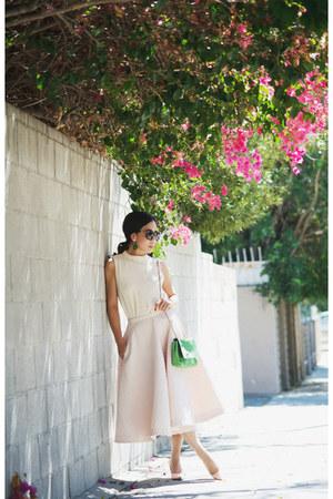 Mulberry bag - H&M skirt
