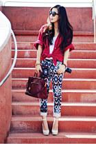 My husbands shirt - Prada bag - Zara pants