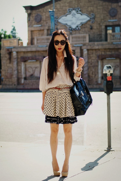 polka dot Zara skirt - polka dot Tommy Hilfiger skirt - 31 Phillip Lim bag