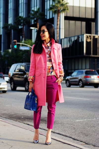 RED valentino coat - Celine bag - Jimmy Choo pumps - JCrew pants