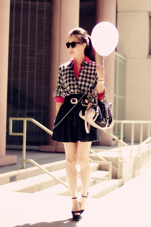 Celine wedges - madewell shirt - Miu Miu bag - Zara skirt