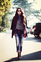 Zara boots - Zara jeans - Zara sweater