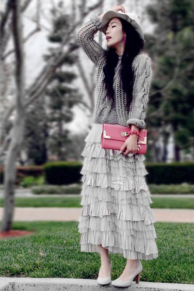 Hat Attact hat - River Island sweater - pink clutch Aldo bag - Terra Plana heels