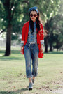 Boyfriend-jeans-levis-jeans-red-red-zara-blazer-denim-shirt-zara-shirt-miu