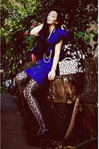 Lanvin for H&M dress - thrifted bag - H&M necklace - Charlie David heels