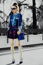 Zara wedges - Celine bag - asos shorts