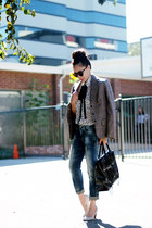 DIY tie - Zara jeans - polka dot Club Monaco shirt - 31 Philllip Lim bag