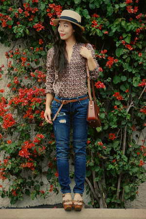 Jeffrey Campbell shoes - Riley jeans - H&amp;M hat - H&amp;M blouse
